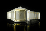 Cartier Santos (29x41mm) Automatik in Stahl & Gelbgold mit Box