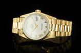 Rolex Day-Date (36mm) Ref.: 18238 in 18k Gelbgold mit ivory Zifferblatt mit Papieren aus 1990