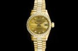 Rolex Lady Datejust (26mm) Ref.: 69178 in 18k Gelbgold mit Papieren aus 1991