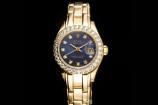 Rolex Pearlmaster Lady Datejust (29mm) Ref.: 69298 in 18k Gelbgold mit Box & Papieren aus 1991