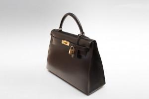 Hermès Kelly Bag (32cm) in schwarzem Leder mit OVP aus 1997