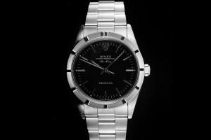 Rolex Air-King (34mm) Ref.: 14010 schwarzes Zifferblatt & Engine-Lünette aus 1997