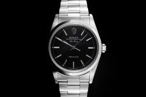Rolex Air-King (34mm) Ref.: 14000M aus 2006 mit schwarzem Zifferblatt