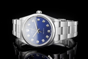 Rolex Air-King (34mm) Ref.: 14000 aus 1997 mit blauem Diamantzifferblatt