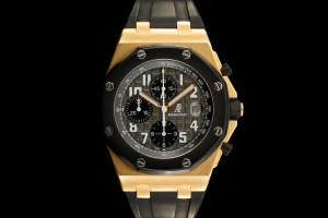 Audemars Piguet (42mm) Ref.: 25940OK.OO.D002CA.01 Royal Oak Offshore Chronograph in 18k Roségold Box & Papiere aus 2005