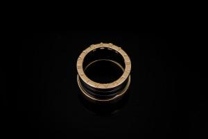 Bulgari B.Zero1 4 Band Ring (Gr. 56) | 18k Roségold Keramikspirale