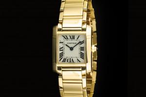 Cartier Tank Francaise (20x25mm) Ref.: W50002N2 Quarz in Gelbgold mit Box & Papieren aus 2000