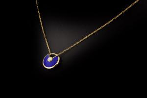 Amulette de Cartier Halskette mit Lapislazuli Diamant-Anhänger