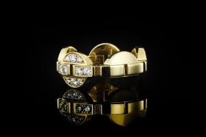 Cartier Himalia Ring | (Gr. 54)  18k Gelbgold mit Diamanten, Box & Papiere aus 2007