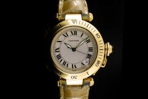 Cartier Pasha (36mm) Ref.: 1035 in Gelbgold mit Box & Papieren aus 1997