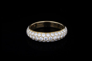 Cartier Etincelle de Cartier Ring | (Gr. 52) 18k Gelbgold mit 1,0ct. Diamanten