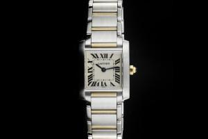 Cartier Tank Francaise Small (20x25mm) Quarz in Edelstahl & Gelbgold