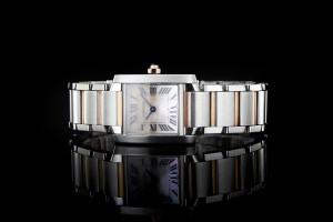 Cartier Tank Francaise Small (20x25mm) Quarz in Edelstahl & Roségold mit Box & Papieren aus 2012