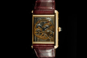 Cartier Tank Jumbo Louis (39mm) Ref.: WHTA0002 Skeleton in 18k Roségold mit Box & Papieren aus 2016