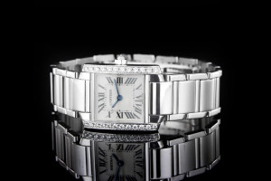 Cartier Tank Francaise (20x24mm) Ref.: WE1002S3 Quartz in 18k Weißgold mit Diamanten