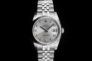 Rolex Datejust (36mm) Ref.: 116234 in Edelstahl mit Diamantzifferblatt, Box & Papieren aus 2018 (LC110)