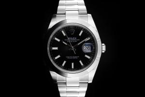 Rolex Datejust 41 (41mm) Ref.: 126300 schwarzes Zifferblatt mit Box & Papieren aus 2020