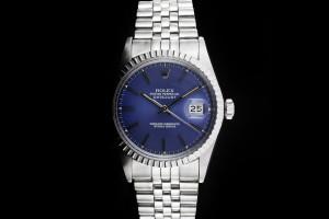 Rolex Datejust (36mm) Ref.: 16030 mit blauem Zifferblatt & Plexiglas aus 1984