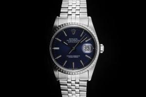 Rolex Datejust (36mm) Ref.: 16220 mit Zifferblatt in Blau aus 1998