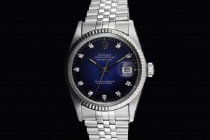 Rolex Datejust (36mm) Ref.: 16014 mit Diamantzifferblatt in Blau aus 1985-86