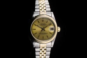 Rolex Datejust Medium (31mm) Ref.: 68273 in Stahl-Gold mit champagner Dial aus 1990