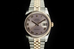 Rolex Datejust (36mm) Ref.: 116231 mit rosa Zifferblatt Box & Papiere aus 2013 (LC100)