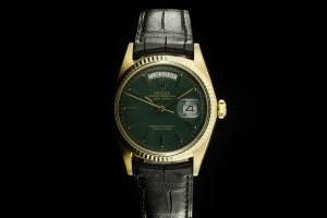 Rolex Day-Date (36mm) Ref.: 1803 in 18k Gelbgold mit Lederband aus 1969