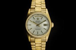 Rolex Day-Date (36mm) Ref.: 18248 in 18k Gelbgold mit Zifferblatt in Weiss aus 1990
