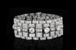 Platinarmband mit Diamanten (ca. 30ct) | Platin