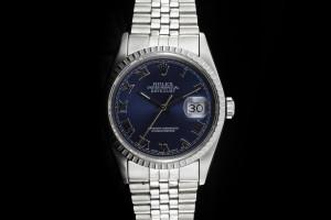 Rolex Datejust (36mm) Ref.: 16220 mit blauem Zifferblatt aus 1992