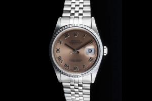 Rolex Datejust (36mm) Ref.: 16220 mit Zifferblatt in Pink aus 1998