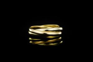 Cartier Trinity Ring | (Gr. 48) 18k Gelb, Weiß- & Roségold
