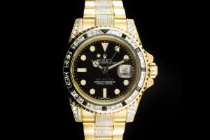 Rolex GMT-Master II (40mm) Ref.: 116718LN Gelbgold mit Box & Papieren (LC100) aus 2015