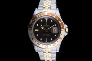 Rolex GMT-Master (40mm) Ref.: 16753 in Stahl-Gold, Nipple Dial mit Papieren aus 1983