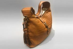 Gucci New Jackie Croco Handtasche (48 x 39 x 6 cm)