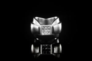 Jette Joop Weißgoldring mit ca. 1ct. Diamanten