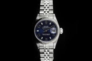 Rolex Lady Datejust (26mm) Ref.: 69174 in Edelstahl mit blauem Zifferblatt aus 1991