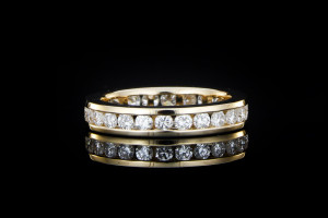 Memoryring mit 1,37ct. Diamanten in 14k Gelbgold