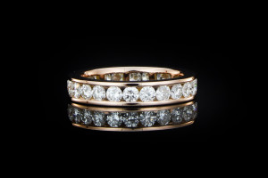 Memoryring mit 1,9ct. Diamanten in 14k Roségold