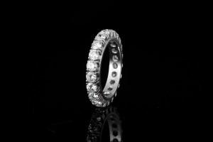 Memoryring mit 3,20ct. Diamanten in 18k Weißgold
