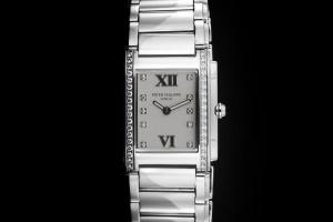 Patek Twenty 4 (25 x 30mm) Ref.: 4910/010A-011 Damenuhr mit Diamantbesatz Box & Papiere aus 2014