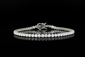 Tennisarmband mit Diamanten (ca. 2,45ct) | 18k Weißgold