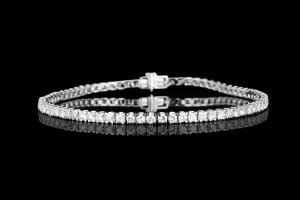 Tennisarmband mit Diamanten (ca. 2,54ct) | 18k Weißgold