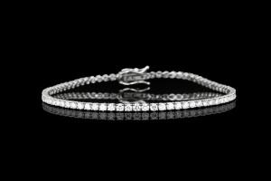 Tennisarmband mit Diamanten (ca. 3,33ct) | 18k Weißgold