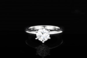 Solitaire Diamantring (1,20ct) | 18k Weißgold