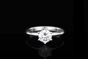 Solitaire Diamantring (1,01ct) | F | vvs 1 | 18k Weissgold