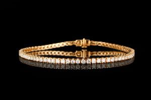 Tennisarmband mit Diamanten (ca. 2,53ct) | 18k Roségold