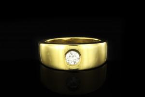 Diamantring (ca. 0,20ct) | 18k Gelbgold