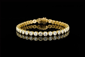 Tennisarmband mit Diamanten (ca. 8,5ct) | 18k Gelbgold