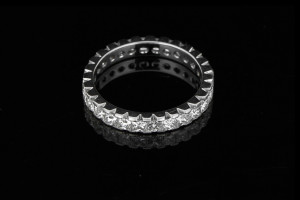 Memoryring in Platin mit 1,91ct. Princess Cut Diamanten